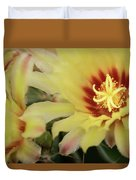 Yellow Cactus Plant Flower Duvet Cover