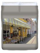 Yellow Cafe Duvet Cover
