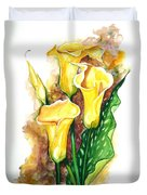 Yellow Callas Duvet Cover