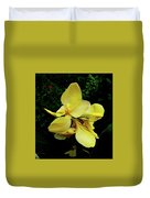 Yellow Canna  Duvet Cover
