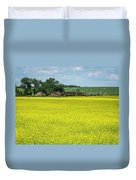 Yellow Canola Field Duvet Cover