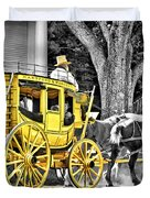 Yellow Carriage Duvet Cover
