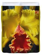 Yellow Cattleya Orchid Duvet Cover by Greg Vaughn - Printscapes