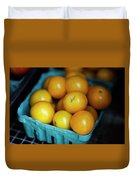 Yellow Cherry Tomatoes Duvet Cover