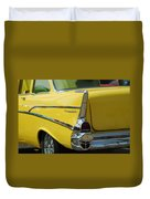 Yellow Chevrolet Tail Fin Duvet Cover