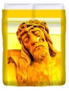 Yellow Christ #1 Duvet Cover