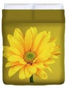 Yellow Chrysanthemum On Yellow Duvet Cover