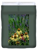 Yellow Coneflowers And Lavender 1633 H_2 Duvet Cover