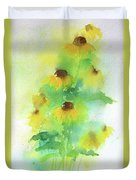 Yellow Coneflowers  Duvet Cover