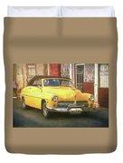 Yellow Convertible Mercury Duvet Cover