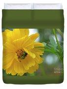Yellow Cosmos Flower Duvet Cover