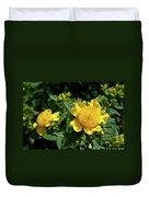 Yellow Crown Flower Duvet Cover