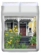 Yellow Daisies In Charleston Duvet Cover