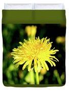 Yellow Dandelion Flower Duvet Cover