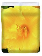 Yellow Daylily Duvet Cover