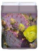 Yellow Desert Bloom Duvet Cover