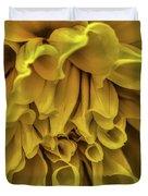 Yellow Dinner Plate Dahlia Duvet Cover