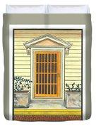 Yellow Door In Panama Duvet Cover