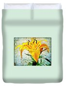 Yellow Easter Lily Duvet Cover