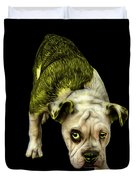 Yellow English Bulldog Dog Art - 1368 - Bb Duvet Cover