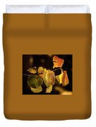 Yellow Fall Leaves Duvet Cover