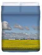Yellow Fields And Blue Clouds Duvet Cover
