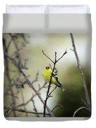 Yellow Finch Duvet Cover