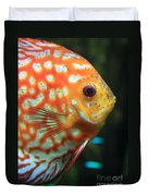 Yellow Fish Profile Duvet Cover