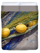 Yellow Floats Duvet Cover