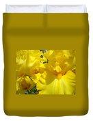 Yellow Floral Irises Flowers Art Prints Baslee Troutman Duvet Cover