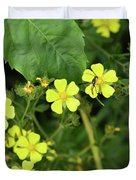Yellow Flower And A Black Bug  Duvet Cover