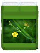 Yellow Flower Buttercup Duvet Cover