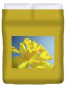 Yellow Flower Floral Daffodils Art Prints Spring Blue Sky Baslee Troutman Duvet Cover