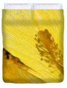 Yellow Flower - Hibiscus Shadow - Sharon Cummings Duvet Cover