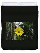 Yellow Flower In Woods Duvet Cover