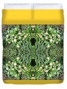 Yellow Flower Mandala 1 Duvet Cover