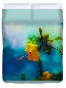 Yellow Flower On Blue Sky Duvet Cover