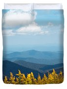Yellow Flowers Along The Blue Ridge Mountains Duvet Cover by Kim Fearheiley