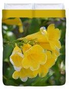 Yellow Freesias Duvet Cover