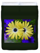 Yellow Flowers Embracing Duvet Cover