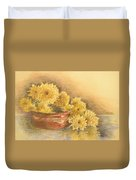 Yellow Flowers With Still Life Duvet Cover