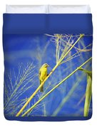 Yellow Fronted Canary Duvet Cover