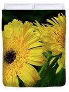 Yellow Gerbera Daisies By Kaye Menner Duvet Cover