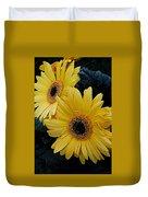 Yellow Gerbera Daisies Duvet Cover