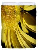Yellow Gerbera Daisy By Kaye Menner Duvet Cover