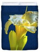 Yellow Glue Blue #f9 Duvet Cover