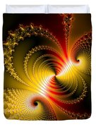 Yellow Gold Red Decorative Abstract Art Duvet Cover