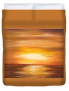 Yellow Gold Sunset Duvet Cover