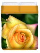 Yellow Golden Single Rose Duvet Cover