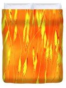 Yellow Grass Spikes Duvet Cover